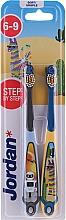 Kup Szczoteczka dla zębów dla dzieci 6-9 lat, niebieska + szara - Jordan Step By Step Soft