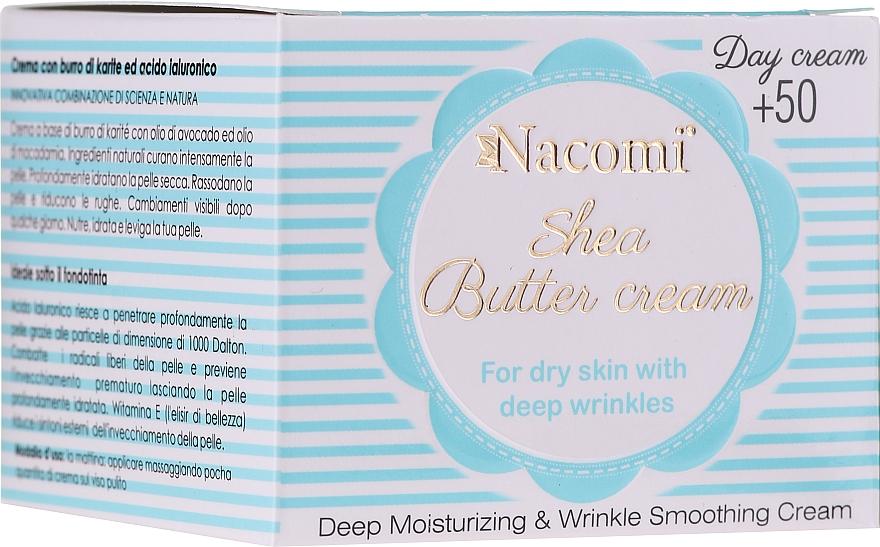 Krem do twarzy z masłem shea na dzień - Nacomi Shea Cream 50+