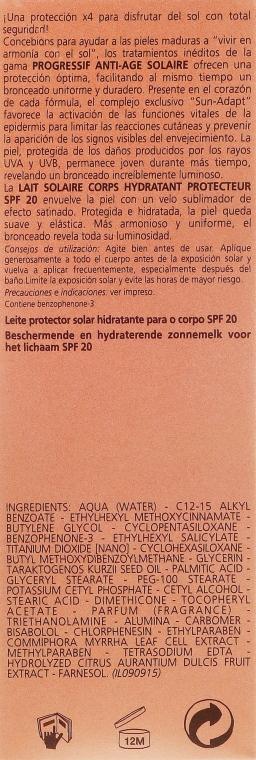 Nawilżające mleczko przeciwsłoneczne do ciała SPF 20 - Carita Progressif Anti-Age Solaire Protecting And Moisturising Sun Milk — фото N3