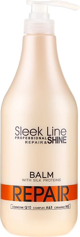 Regenerujący balsam z jedwabiem do włosów - Stapiz Sleek Line Repair Shine Balsam