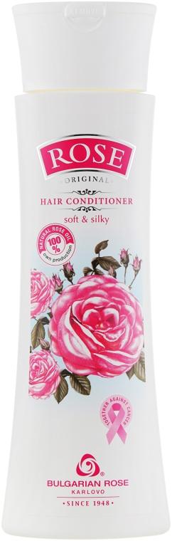 Różana odżywka do włosów Miękkość i jedwabistość - Bulgarian Rose Rose Conditioner With Natural Rose Oil — фото N1