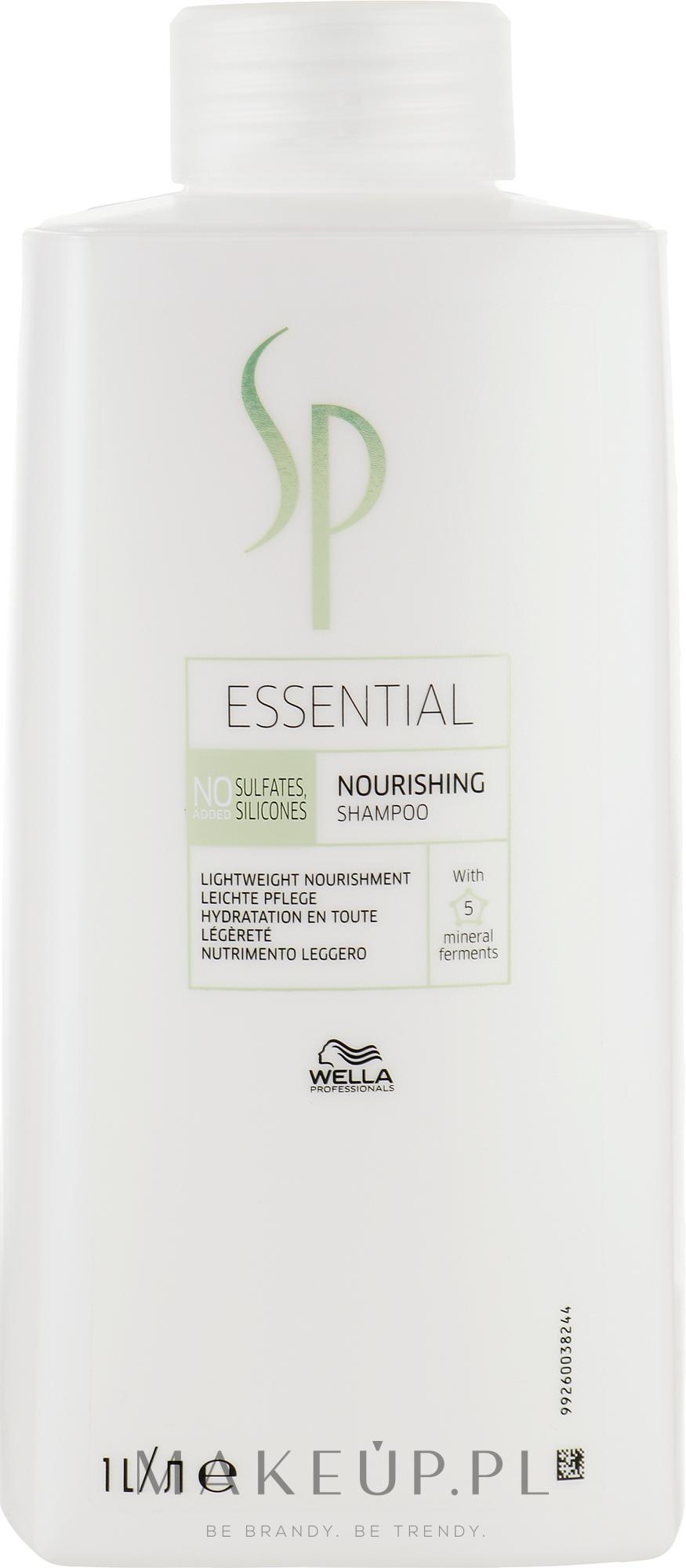 Odżywczy szampon do włosów bez obciążania - Wella SP Essential Nourishing Shampoo — фото 1000 ml