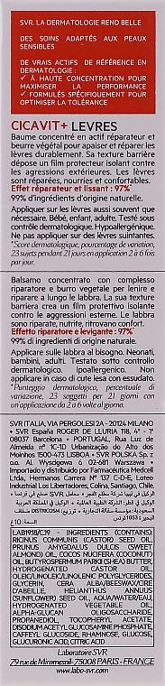 Ochronny balsam do ust - SVR Cicavit+ Protective Lip Balm Fast-Repair — фото N2