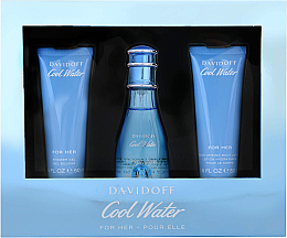 Kup Davidoff Cool Water Woman - Zestaw (edt 50 ml + b/lot 50 ml + sh/gel 50 ml)