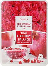 Kup PRZECENA! Witalizująca maska uelastyczniająco-balansująca w płachcie do twarzy Róża i granat - Deoproce Color Synergy Effect Sheet Mask Red *