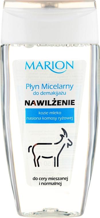 Nawilżający płyn micelarny do demakijażu Kozie mleko i nasiona komosy ryżowej - Marion — фото N1