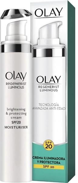 Rozjaśniający krem ochronny na dzień SPF 20 - Olay Regenerist Luminous Brightening & Protecting Cream — фото N1