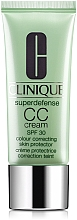 Kup PRZECENA! Krem CC poprawiający koloryt skóry twarzy SPF 30 - Clinique Superdefense CC-Cream Colour Correcting Skin Protector *