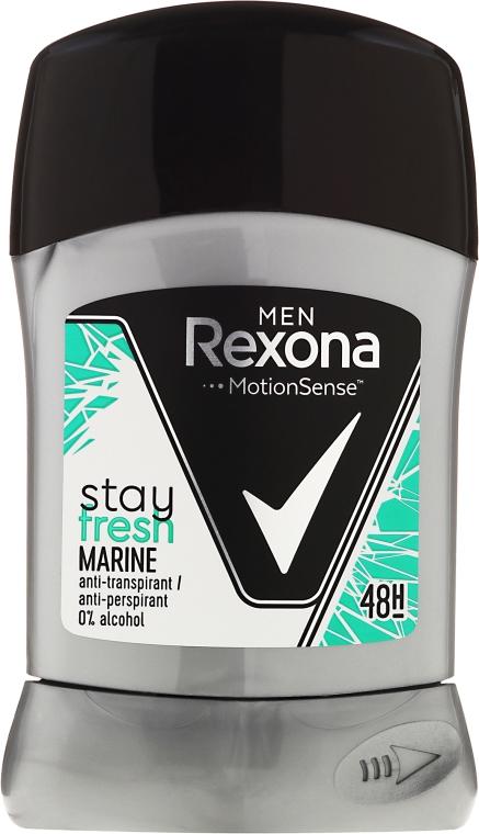 Antyperspirant w sztyfcie - Rexona Men MotionSense Stay Fresh Marine Deodorant Stick — фото N1