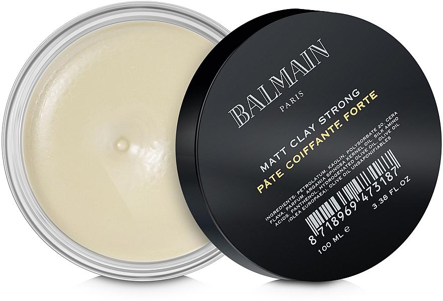 Matująca glinka do stylizacji włosów - Balmain Matt Clay Strong — фото N1
