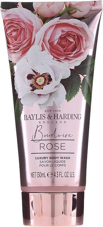 Zestaw - Baylis & Harding Boudoire Rose Set (sh/gel/130ml + sh/gel/300ml + lot/130ml + crystals/100g + bath/f/300ml + soap/100g) — фото N5