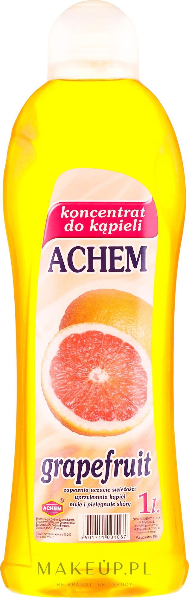 Koncentrat do kąpieli Grejpfrut - Achem Concentrated Bubble Bath Grapefruit — фото 1000 ml