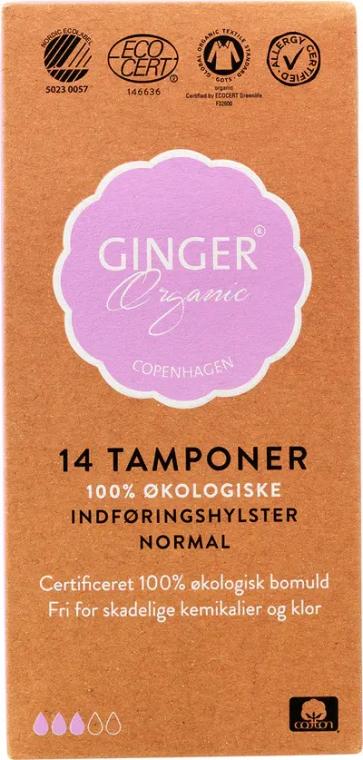 Organiczne tampony z aplikatorem Normal, 14 szt. - Ginger Organic — фото N2