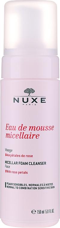 Pianka micelarna do demakijażu z płatkami róży - Nuxe Micellar Foam Cleanser With Rose Petals