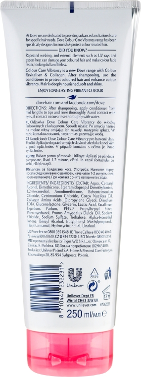 Odżywka do włosów farbowanych - Dove Advanced Hair Series Colour Care Vibrancy Conditioner — фото N4