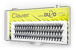 Kup Kępki sztucznych rzęs Podwójna ilość, 10 mm - Clavier DU2O Double Volume
