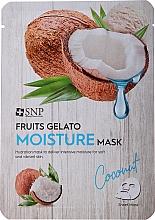 Kup Nawilżająca maska do twarzy - SNP Fruits Gelato Moisture Mask Coconut