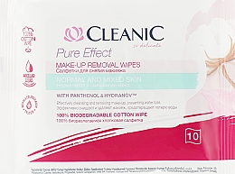 Kup Chusteczki do demakijażu do cery normalnej, 10 szt. - Cleanic Pure Effect Moisturizing
