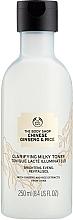 Kup Rozświetlający tonik-mleczko do twarzy - The Body Shop Chinese Ginseng & Rice Clarifying Milky Toner