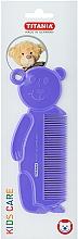 Kup Grzebień do włosów dla dzieci Miś, fioletowy - Titania