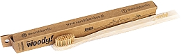 Kup Bambusowa szczoteczka do zębów, średnie beżowe włosie - WoodyBamboo Bamboo Toothbrush Natural