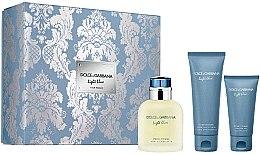 Kup Dolce & Gabbana Light Blue Pour Homme - Zestaw (edt 125 ml + sh/gel 50 ml + ash/balm 75 ml)