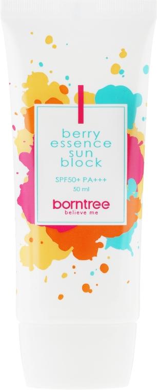 Krem przeciwsłoneczny z ekstraktami z jagód SPF 50+/PA+++ - Borntree Berry Essence Sun Block — фото N2