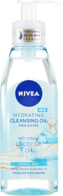 Nawilżający olejek oczyszczający do twarzy i oczu z naturalnym olejem kokosowym - Nivea Hydrating Cleansing Oil