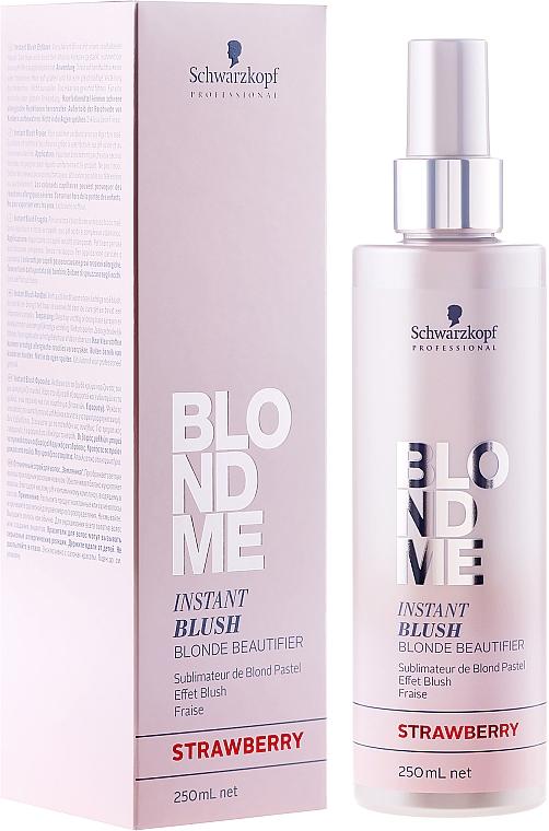 Spray do delikatnej koloryzacji włosów - Schwarzkopf Professional BlondMe Instant Blush Spray — фото N1