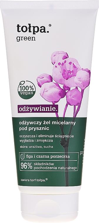 Odżywczy żel micelarny pod prysznic z ekstraktem z figi i czarnej porzeczki - Tołpa Green — фото N1