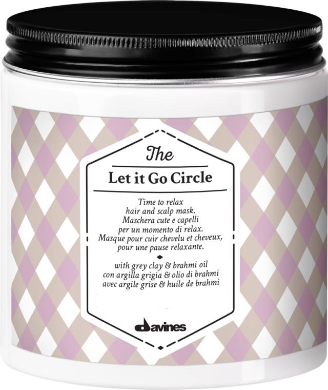 Relaksująca maska do włosów i skóry głowy z glinką szarą i olejem brahmi - Davines The Circle Chronicles The Let It Go Circle — фото N1