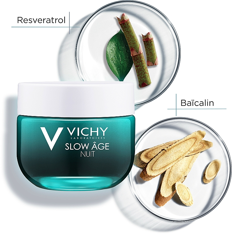 Krem i maska do twarzy na noc Dotlenienie i regeneracja - Vichy Slow Âge Night Cream & Mask — фото N12