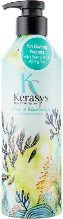 Perfumowany szampon do włosów suchych i zniszczonych - KeraSys Pure & Charming Perfumed Shampoo