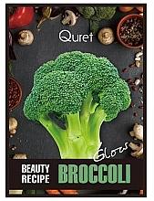 Kup Rozświetlająca maska do twarzy w płachcie - Quret Beauty Recipe Mask Broccoli Glow