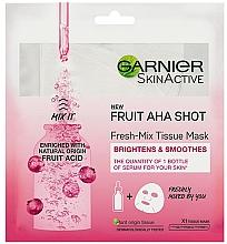 Kup Odświeżająca maska w płachcie do twarzy - Garnier Skin Active New Fruit Aha Shot Fresh Mix Tissue Mask