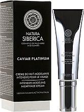 Kup Intensywnie modelujący krem na noc do twarzy na głębokie zmarszczki - Natura Siberica Caviar Platinum Facial Cream