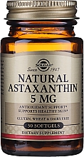 Kup Suplement diety Astaksantyna - Solgar Natural Astaxanthin 5 Mg
