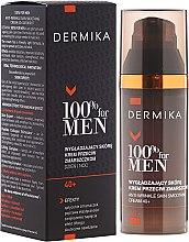 Kup Przeciwzmarszczkowy krem dla mężczyzn 40+ wygładzający skórę - Dermika 100% For Men Skin Smoothing Anti-Wrinkle Cream