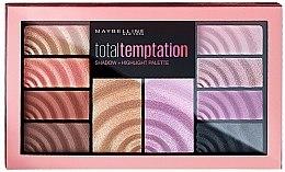 Paleta do makijażu - Maybelline Total Temptation Eyeshadow + Highlight Palette — фото N1