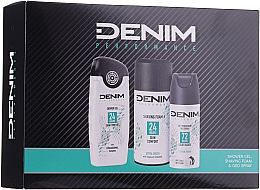 Kup Zestaw - Denim Extrem Fresh Set (deo 150 ml + sh/gel 250 ml + shav/foam 200 ml)