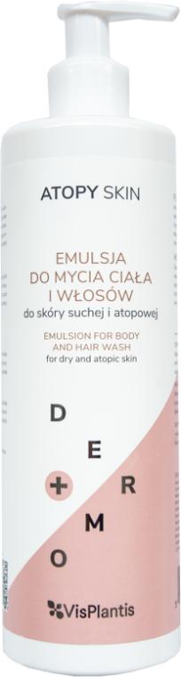Emulsja do mycia ciała i włosów do skóry suchej i atopowej - Vis Plantis Atopy Skin Dermo+