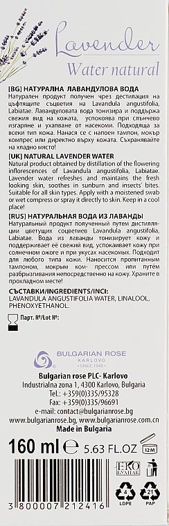 Hydrolat lawendowy - Bulgarian Rose Aromatherapy Hydrolate Lavender Spray — фото N3