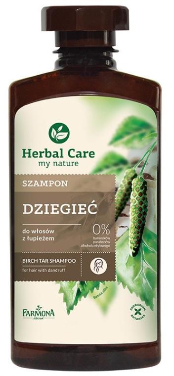 Szampon do włosów z łupieżem Dziegieć - Farmona Herbal Care Shampoo