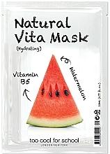 Kup Nawilżająca maseczka w płachcie do twarzy Arbuz i witamina B5 - Too Cool For School Natural Vita Mask Hydrating