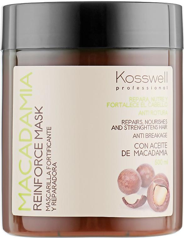 Regenerująca maska do włosów z olejem makadamia - Kosswell Professional Macadamia Reinforce Mask — фото N1