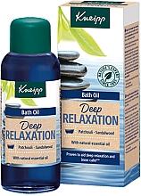Kup Relaksujący olejek do kąpieli Paczula i drzewo sandałowe - Kneipp Deep Relaxation Patchouli & Sandalwood