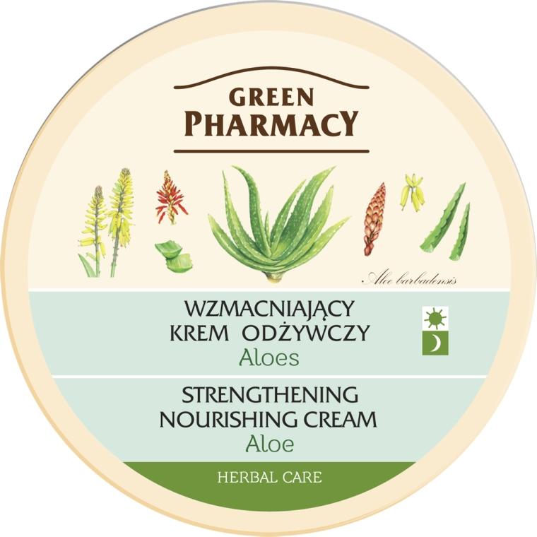 Wzmacniający krem odżywczy Aloes - Green Pharmacy Strengthening Nourishing Cream