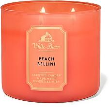 Kup Bath And Body Works White Barn Peach Bellini 3-Wick Candle - Świeca zapachowa