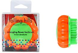 Kup Szczotka do włosów, pomarańczowo-zielona - Rolling Hills Brosse Démêlante Flower