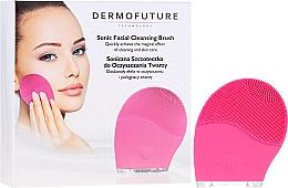 Kup Szczoteczka soniczna do oczyszczania twarzy, różowa - DermoFuture